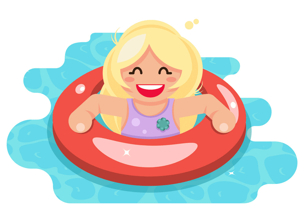 Girl Swimming clipart png image