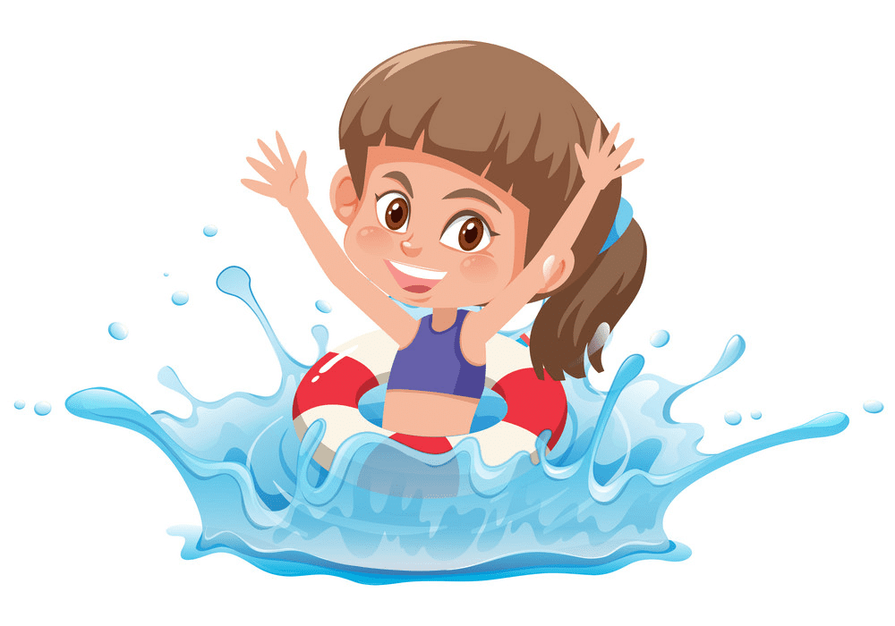 Girl Swimming clipart png
