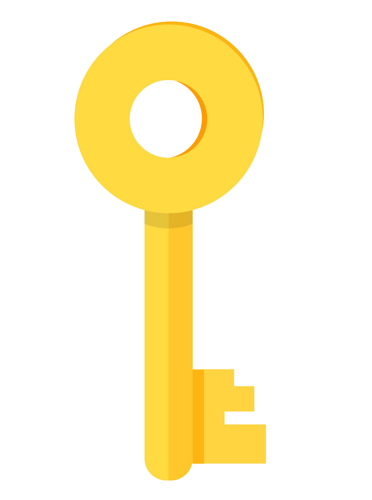 Gold Door Key clipart transparent
