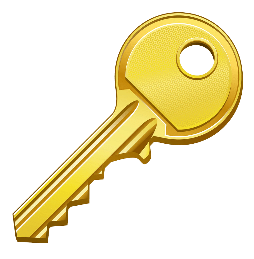 Gold Key clipart transparent 1