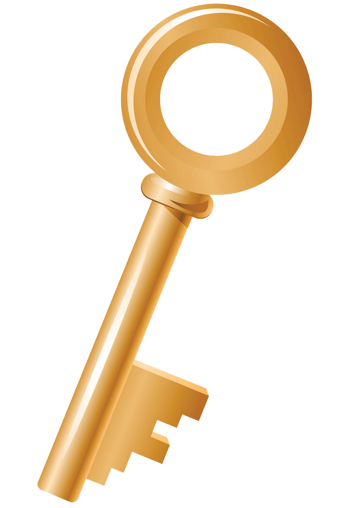 Gold Key clipart transparent