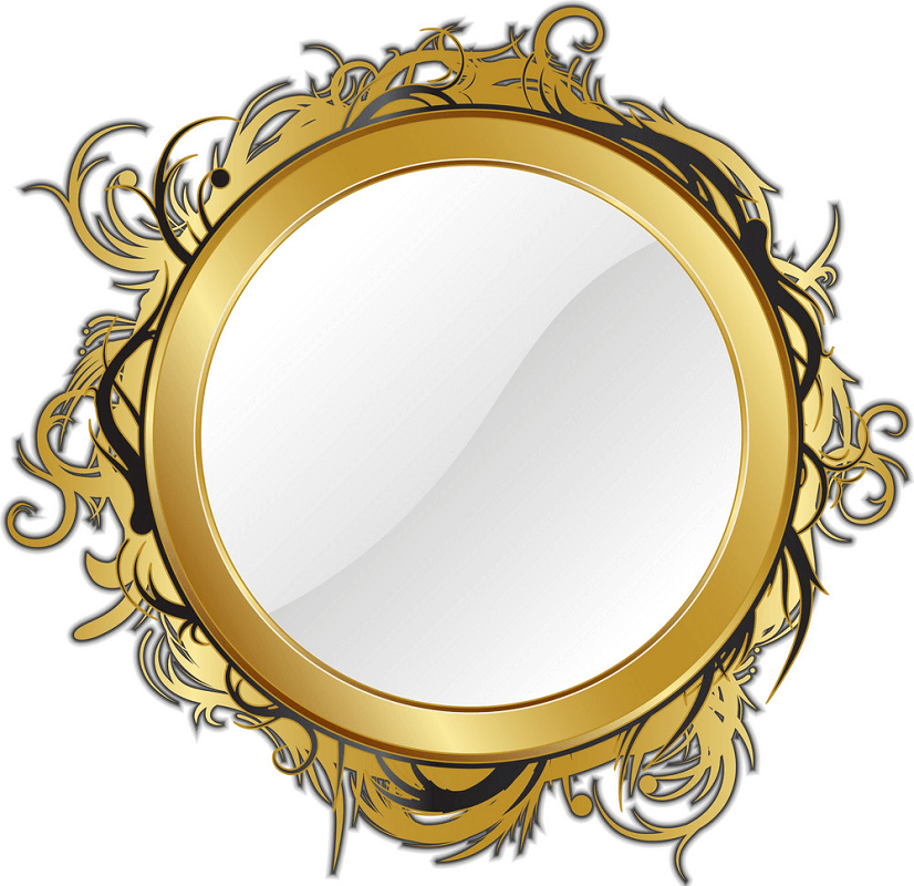 Gold Mirror clipart