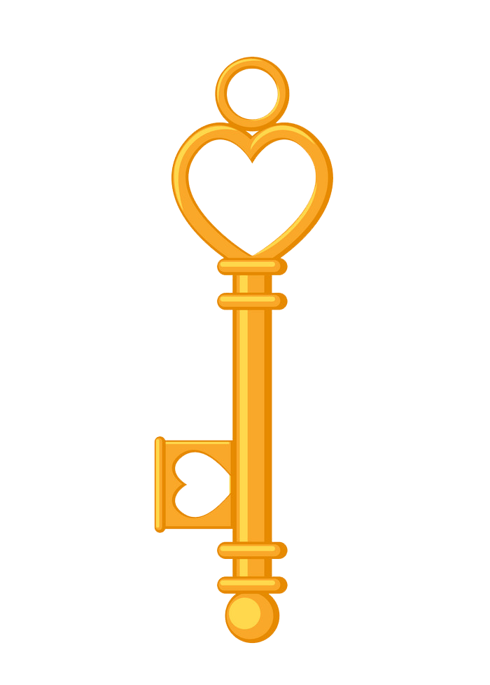 Golden Key clipart transparent