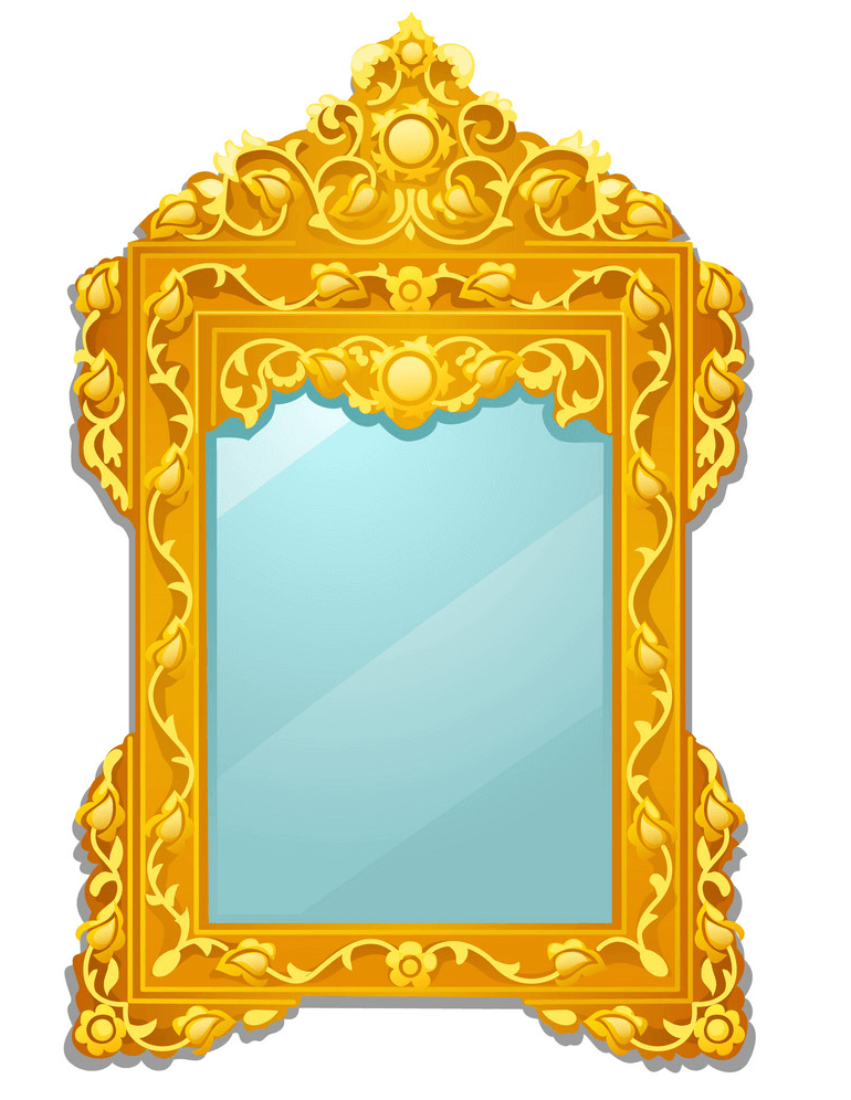 Golden Mirror clipart