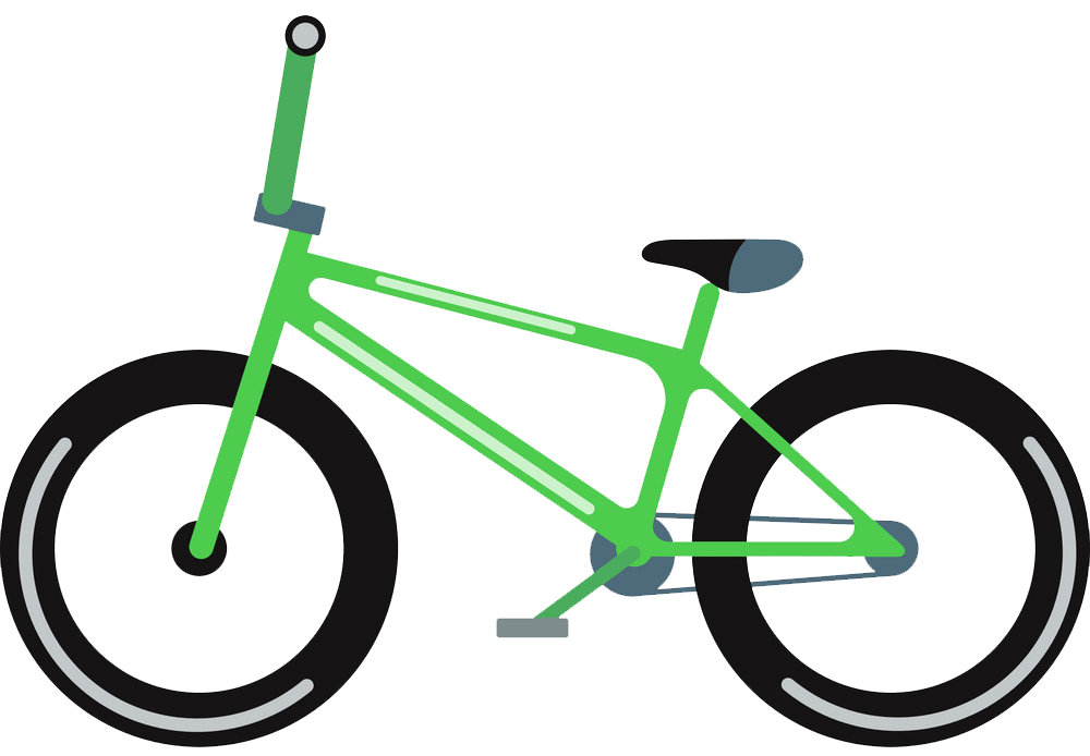 Green Bike clipart transparent