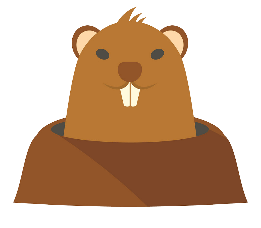 Groundhog in Hole clipart transparent