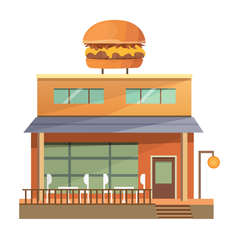 Hamburger Restaurant clipart transparent