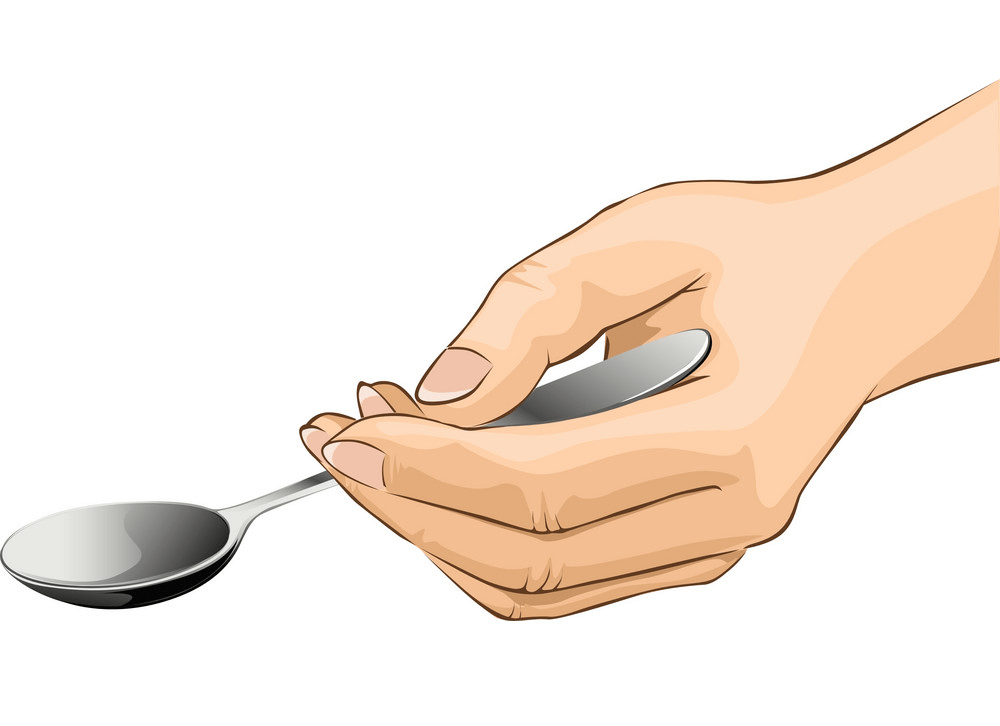 Hand Holding Spoon clipart 2
