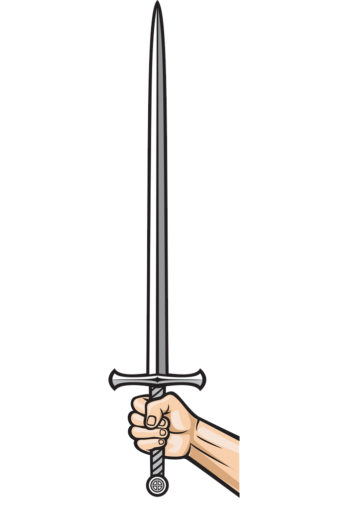 Hand Holding Sword clipart transparent