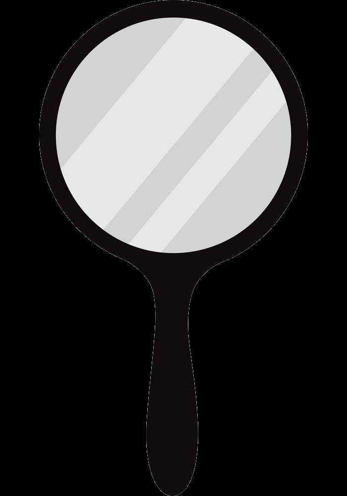 Hand Mirror clipart transparent