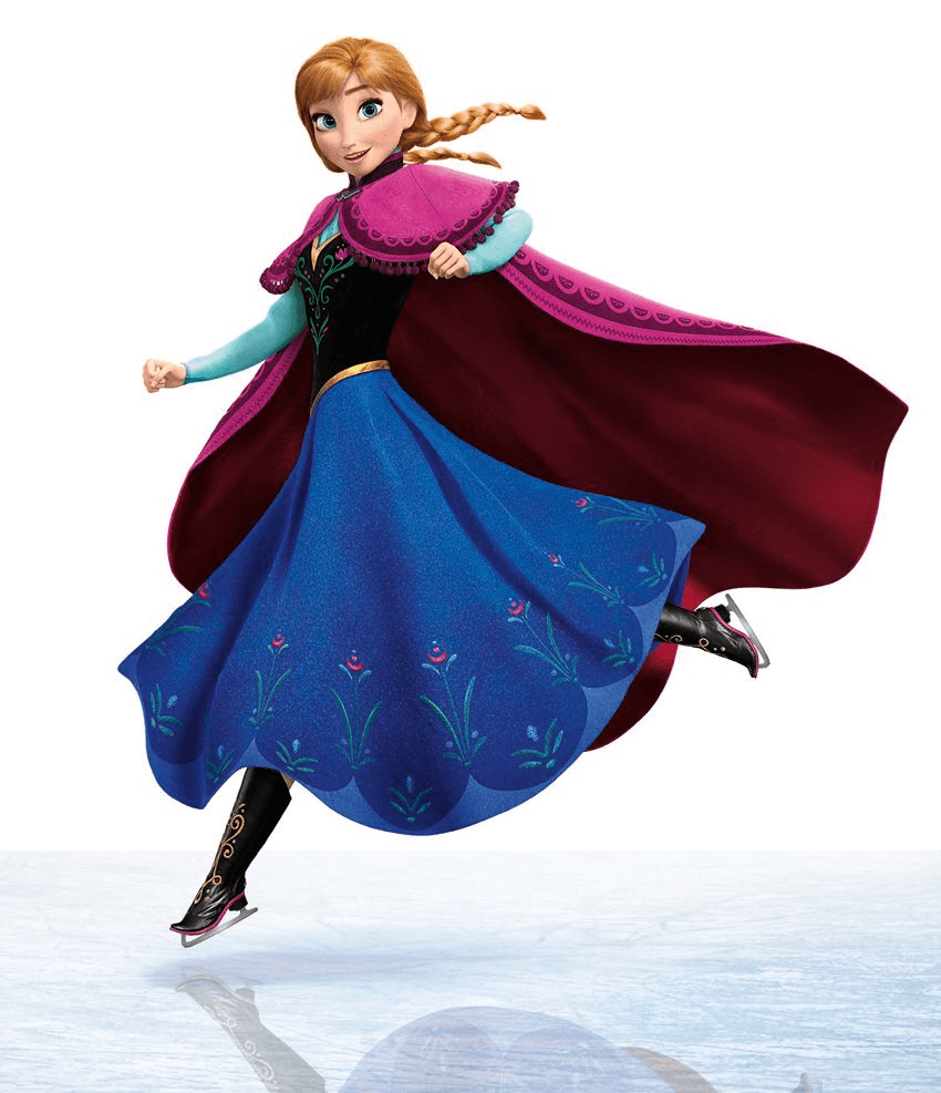 Happy Anna from Frozen clipart