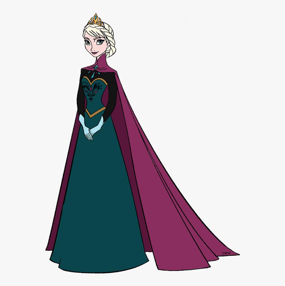 Happy Elsa from Frozen clipart