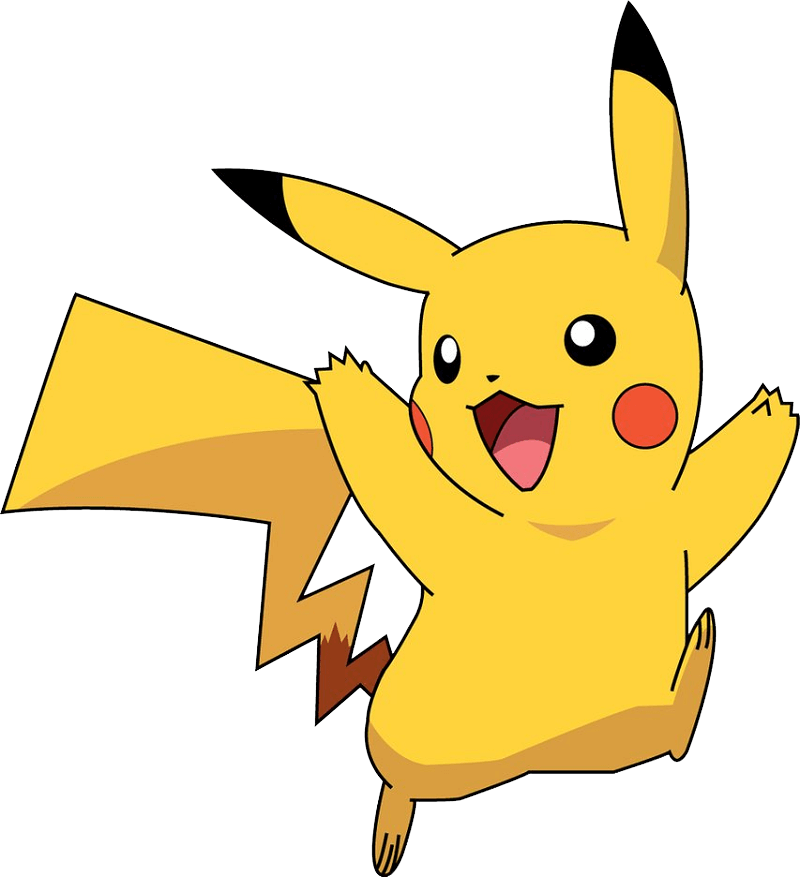 Happy Pikachu clipart transparent 1