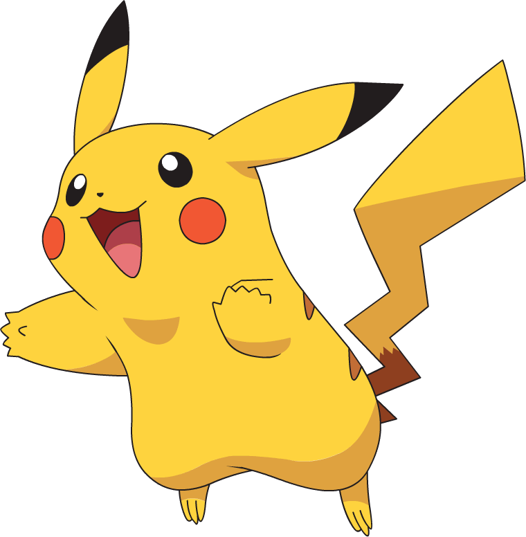 Happy Pikachu clipart transparent 2