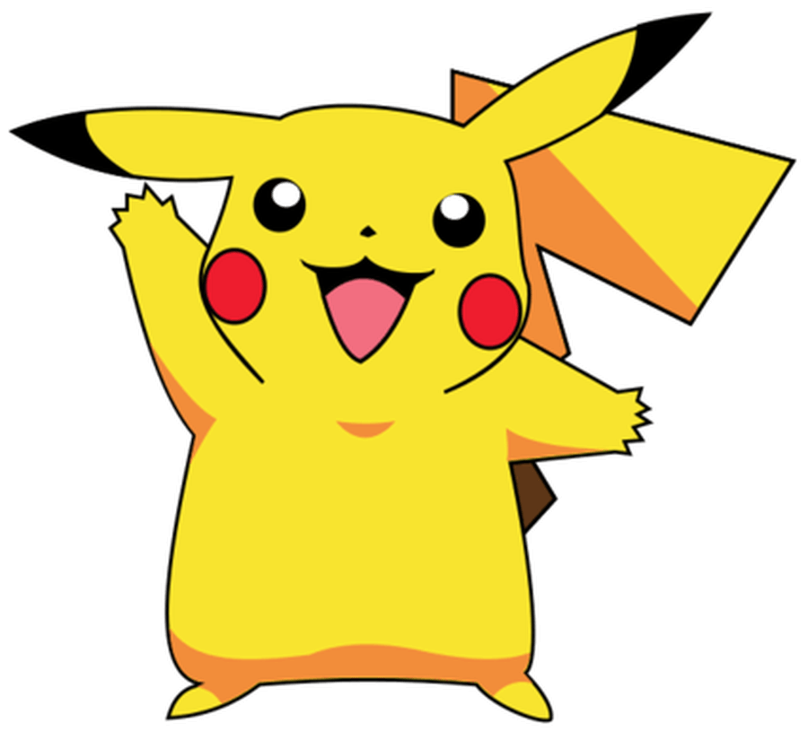 Happy Pikachu clipart transparent