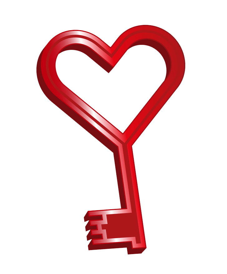 Heart Key clipart transparent