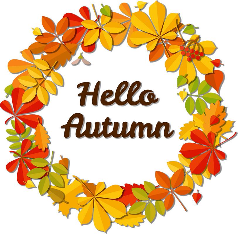 Hello Autumn clipart 1