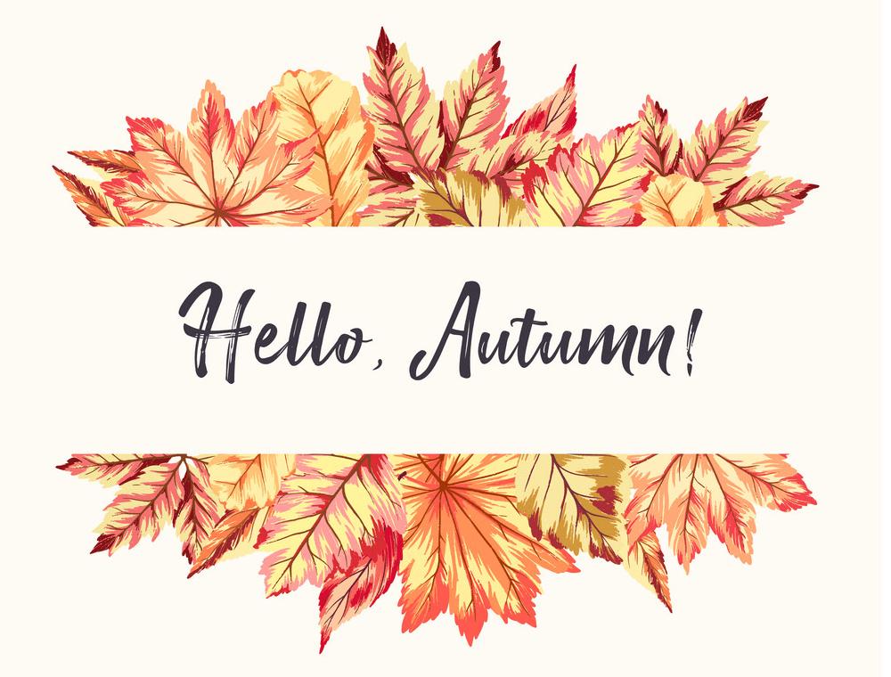 Hello Autumn clipart
