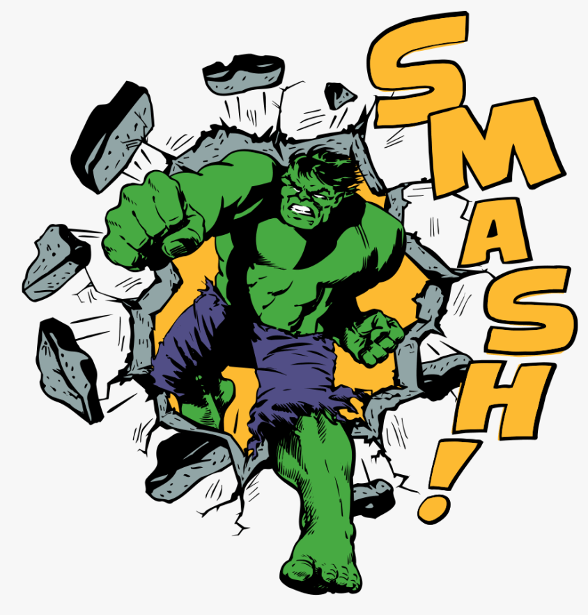 Hulk Smash clipart 1
