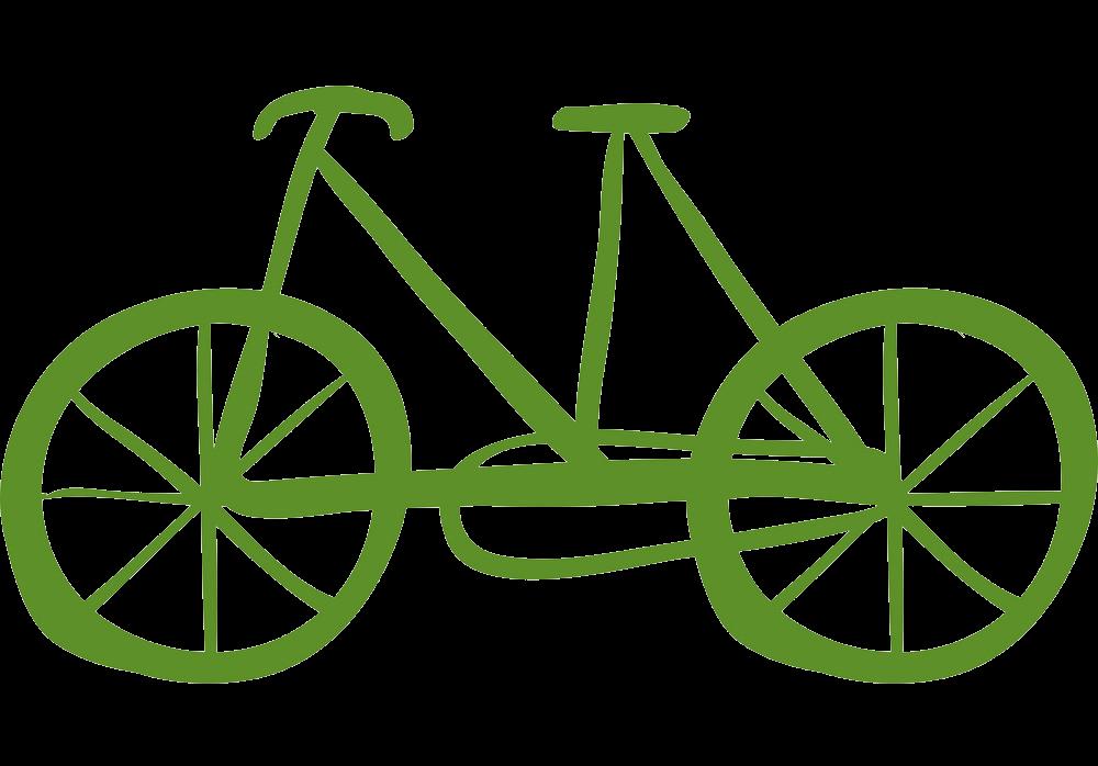 Icon Green Bike clipart transparent