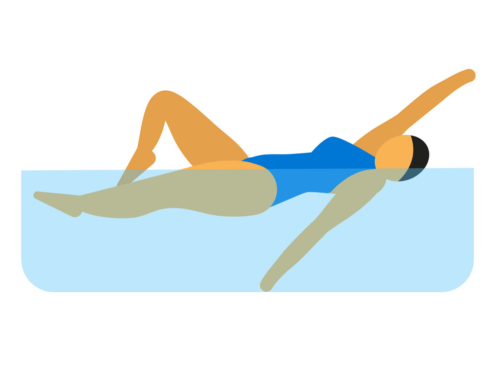 Icon Woman Swimming clipart