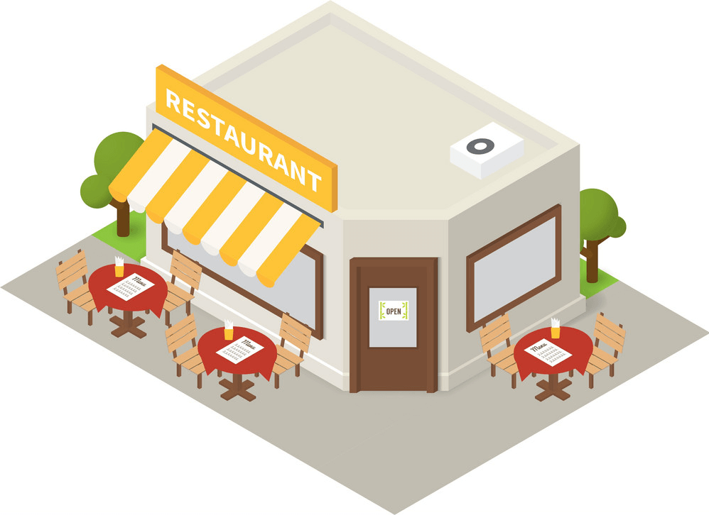 Isometric Restaurant clipart