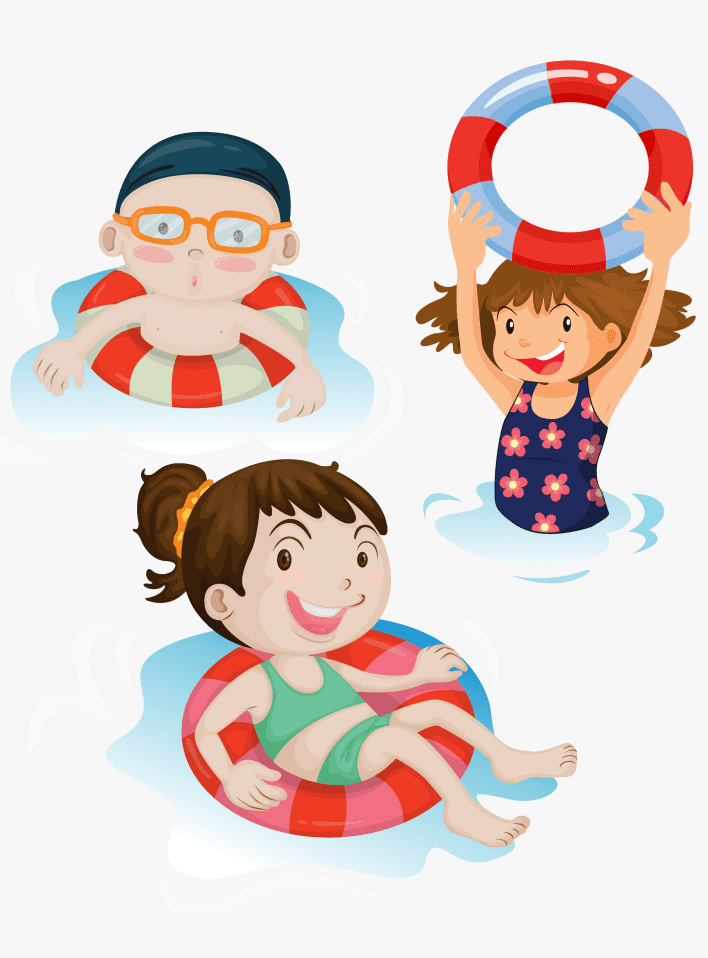 Kids Swimming clipart for free