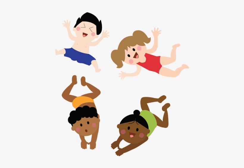 Kids Swimming clipart free download