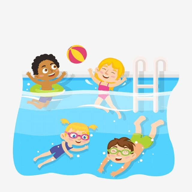 Kids Swimming clipart free image