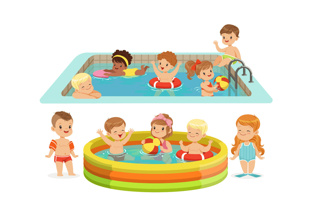 Kids Swimming clipart free images