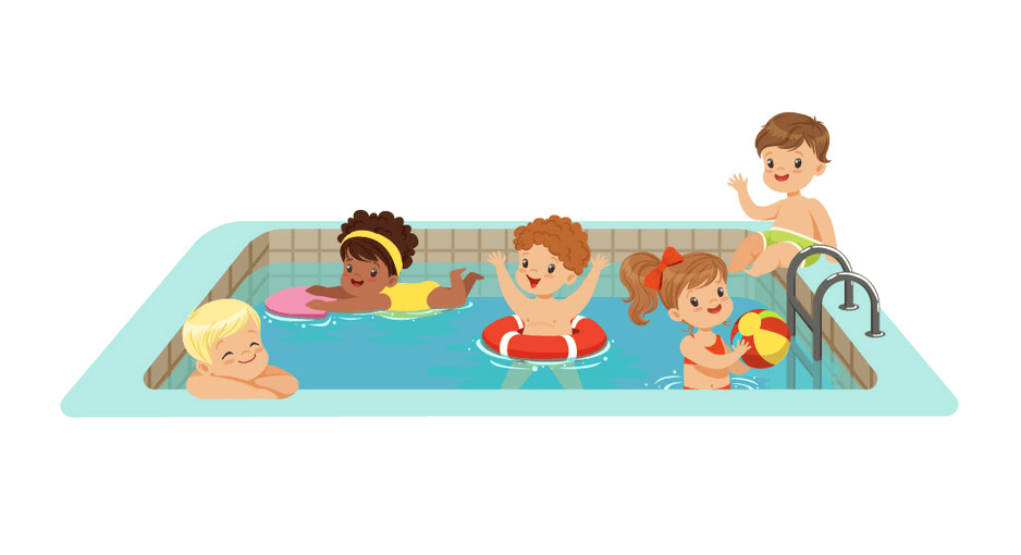 Kids Swimming clipart free