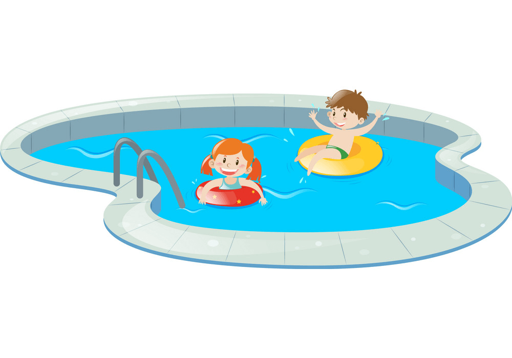 Kids Swimming clipart image