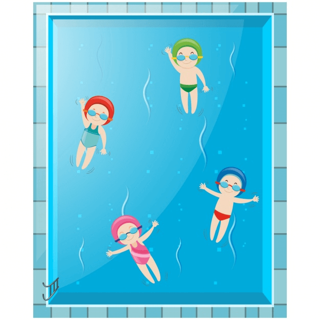 Kids Swimming clipart png