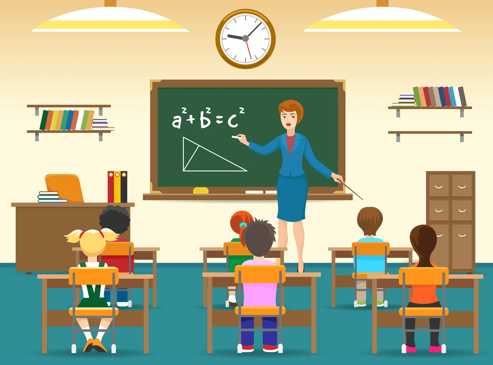 Kids in Classroom clipart