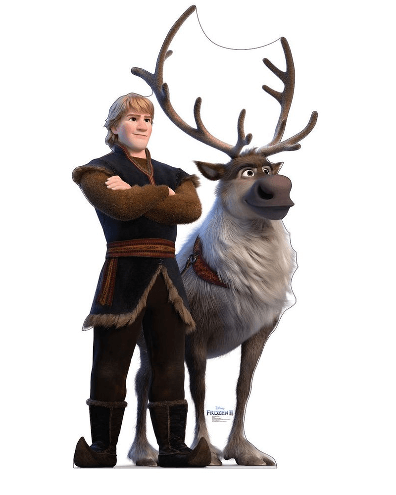 Kristoff and Sven from Frozen clipart