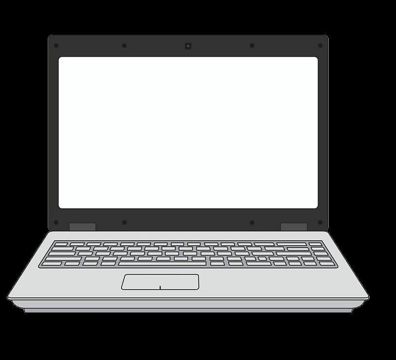 Laptop clipart transparent