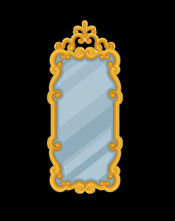 Large Rectangular Wall Mirror clipart transparent