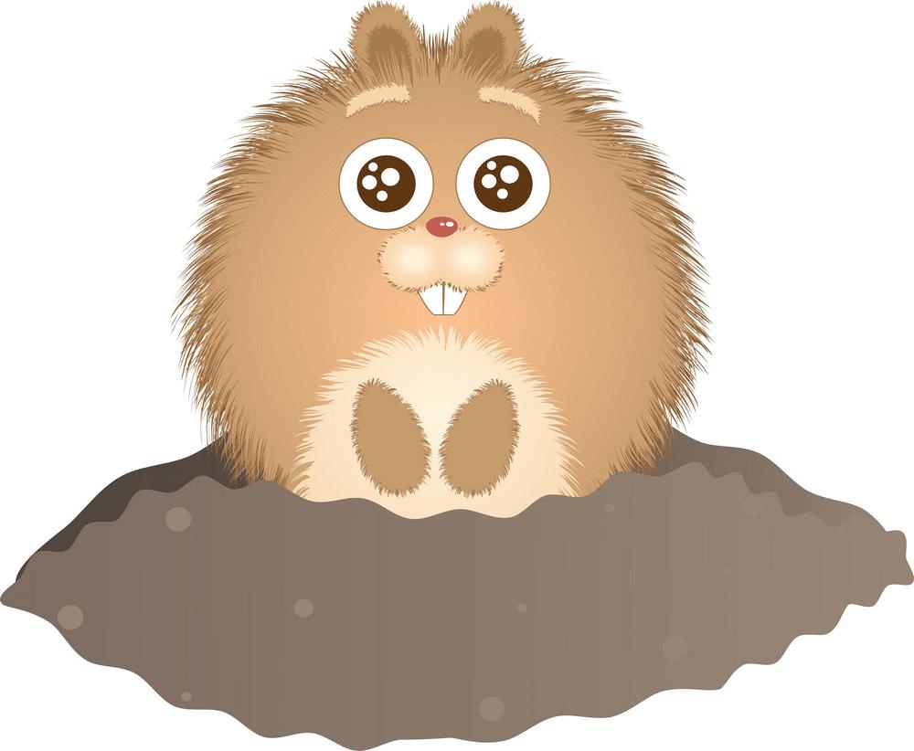 Little Groundhog clipart