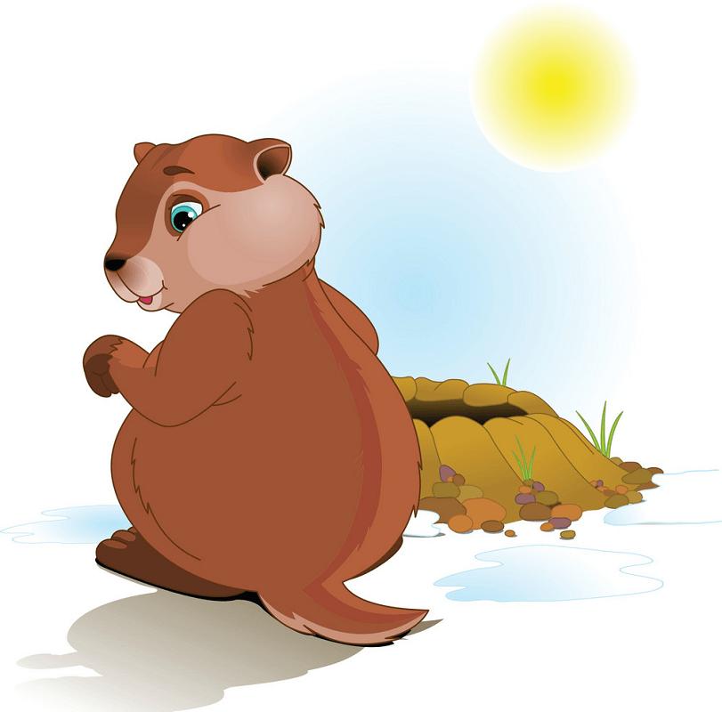 Lovely Groundhog clipart