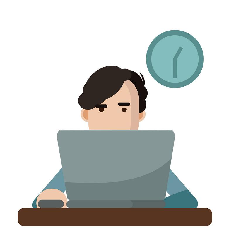 Man Using Laptop clipart
