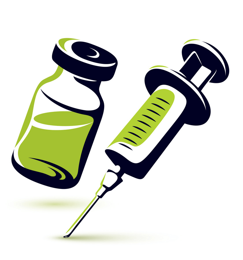 Medical Vial and Syringe clipart