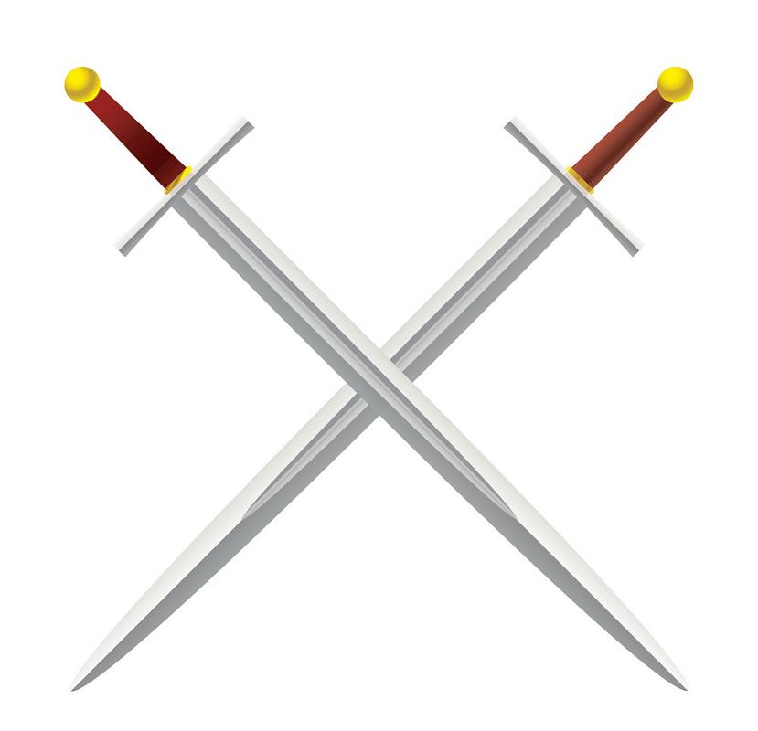 Metal Swords clipart