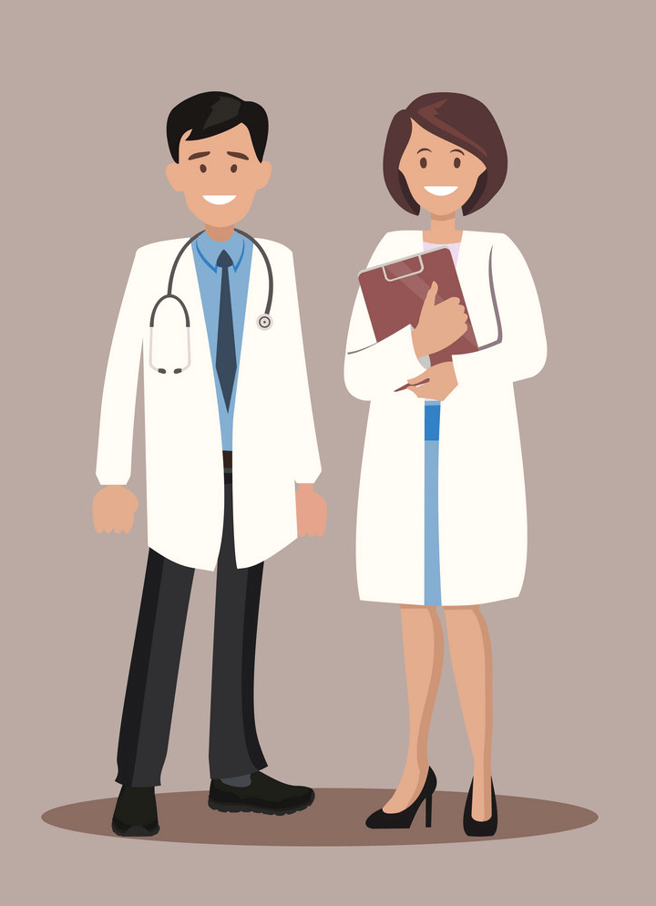 Nurse and Doctor clipart