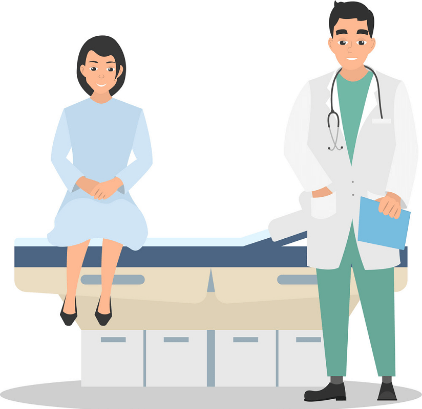 Patient and Doctor clipart