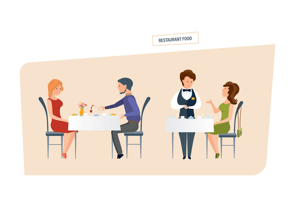 People in Restaurant clipart 1
