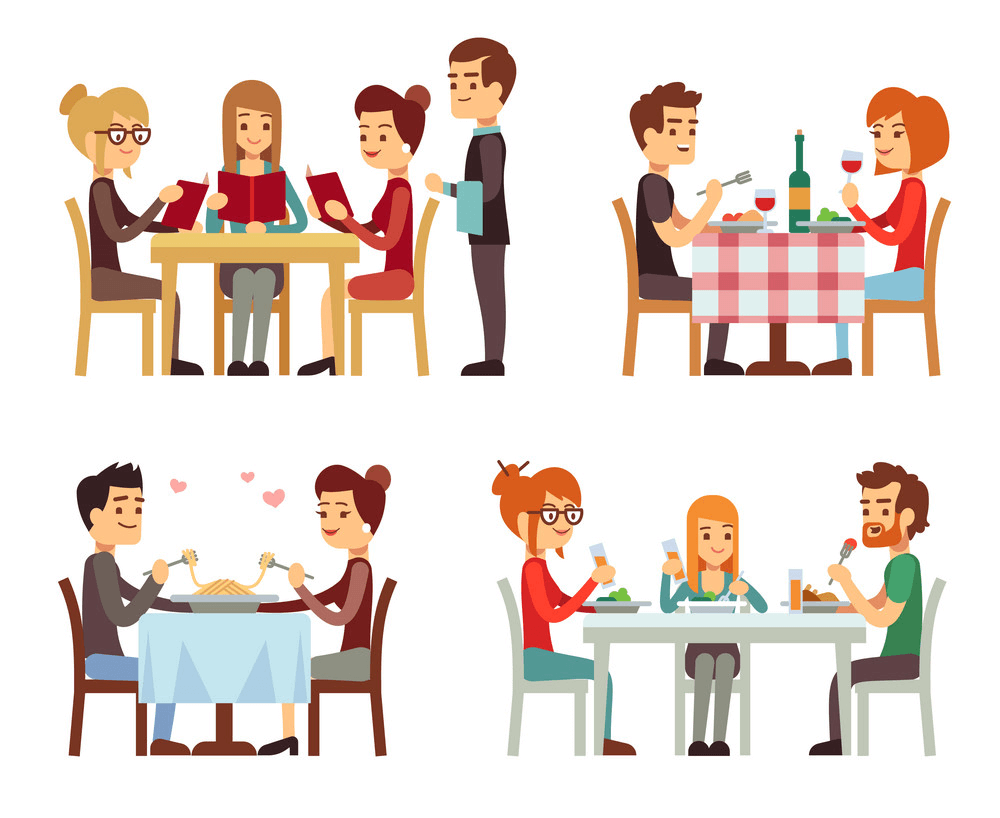 People in Restaurant clipart