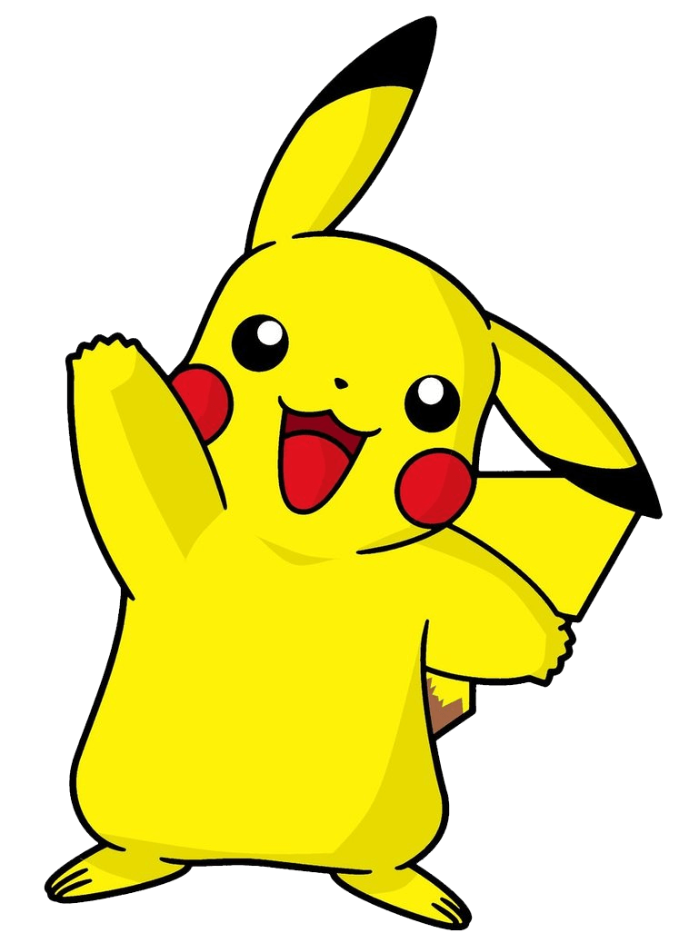 Pikachu Waving Hand clipart transparent