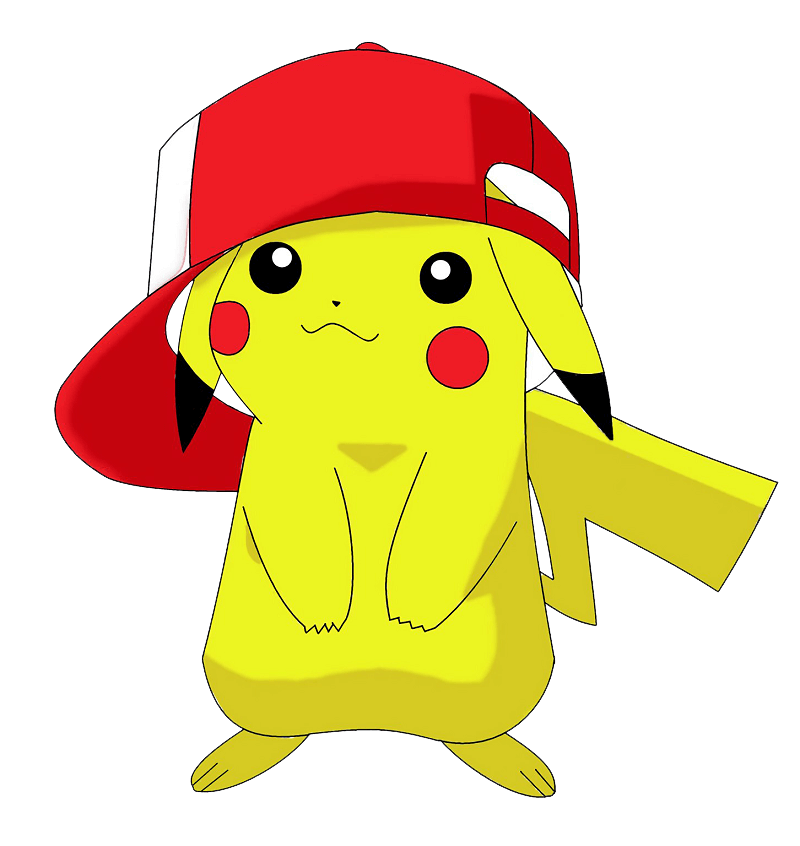 Pikachu with Hat clipart transparent
