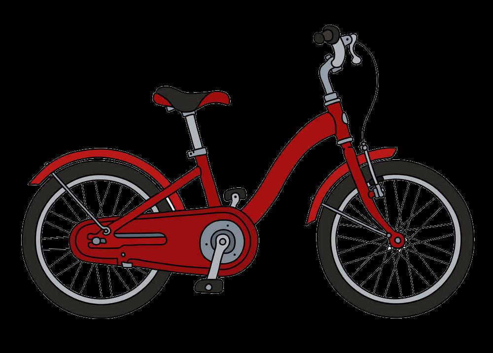 Red Bike clipart transparent 1