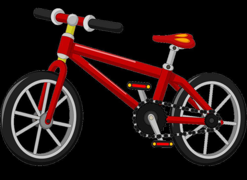 Red Bike clipart transparent